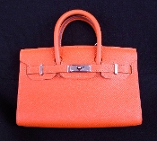 NEW HERMES TINY BIRKIN BAG FEU ORANGE EPSOM MINI RARE
